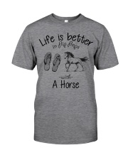 Horse - Life Is Better In Flip Flops Classic T-Shirt front