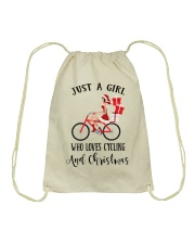 Cycle - Just A Girl Drawstring Bag tile