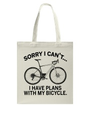 Cycle - I Have Plans With My Bicycle Tote Bag thumbnail