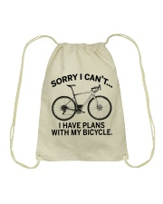 Cycle - I Have Plans With My Bicycle Drawstring Bag thumbnail