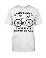 Cycle - I Have Plans With My Bicycle Classic T-Shirt front