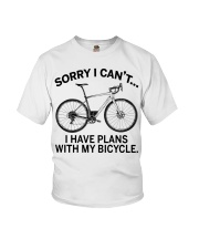 Cycle - I Have Plans With My Bicycle Youth T-Shirt thumbnail