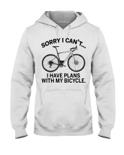Cycle - I Have Plans With My Bicycle Hooded Sweatshirt thumbnail