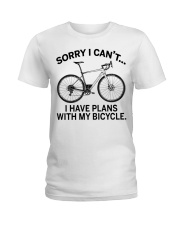 Cycle - I Have Plans With My Bicycle Ladies T-Shirt thumbnail