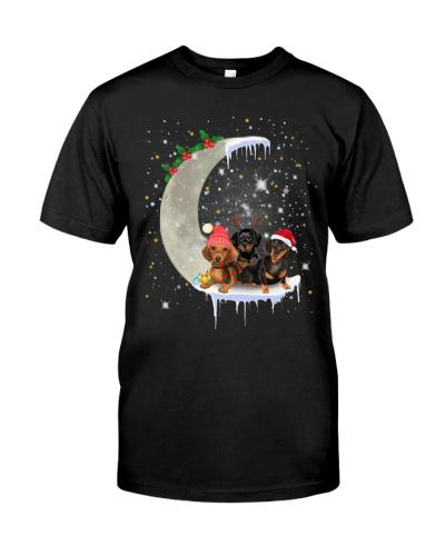 Dachshund - Merry Christmas - Moon