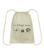 Kayaking - I'm A Simple Woman Drawstring Bag thumbnail