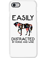 Horse - Easily Ditracted By Horse And Wine Phone Case thumbnail