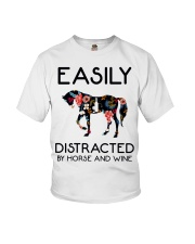 Horse - Easily Ditracted By Horse And Wine Youth T-Shirt thumbnail
