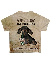 Dachshund A Good Day All-over T-Shirt back
