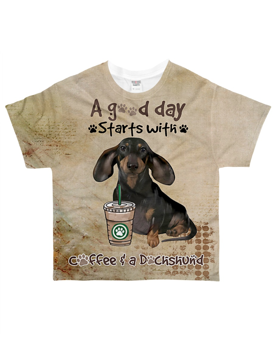 Dachshund A Good Day All-over T-Shirt