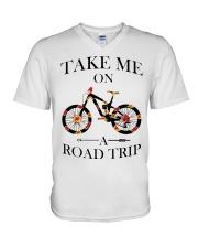 Cycle - Take Me On A Road Trip V-Neck T-Shirt thumbnail