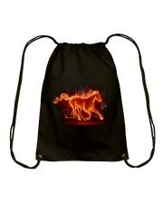Horses - Horse Fire Drawstring Bag thumbnail
