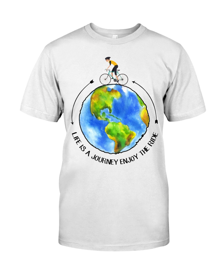 Cycle - Life Is A Journey Enjoy The Ride Classic T-Shirt