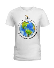Cycle - Life Is A Journey Enjoy The Ride Ladies T-Shirt thumbnail