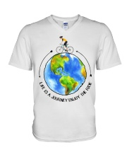 Cycle - Life Is A Journey Enjoy The Ride V-Neck T-Shirt thumbnail