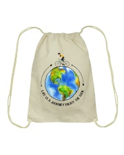Cycle - Life Is A Journey Enjoy The Ride Drawstring Bag thumbnail