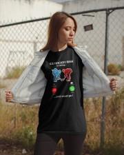 Hockey Ice Hockey Is Calling Classic T-Shirt apparel-classic-tshirt-lifestyle-07