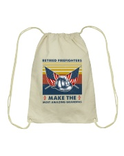Retired Firefighters Make The Most Grandpas Drawstring Bag thumbnail
