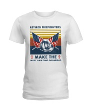 Retired Firefighters Make The Most Grandpas Ladies T-Shirt thumbnail