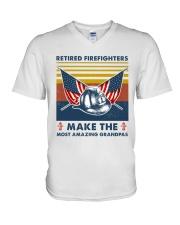 Retired Firefighters Make The Most Grandpas V-Neck T-Shirt thumbnail