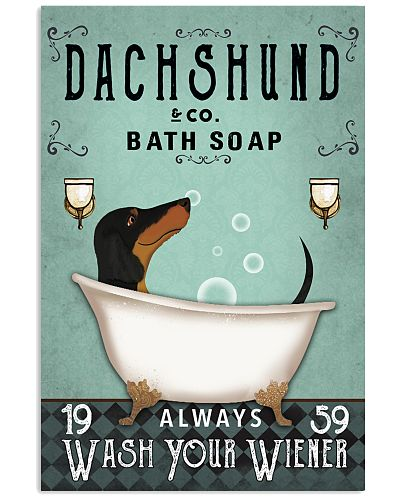 Dachshund Mint Always Wash Your Wiener