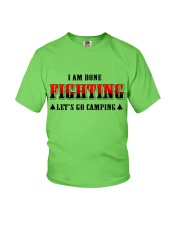 Camping Lets Go Camping Youth T-Shirt tile