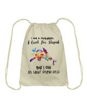 Firefighter - I Can Fix What Stupid Does Drawstring Bag thumbnail