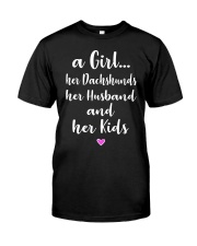 Dachshund - A Girl Classic T-Shirt front