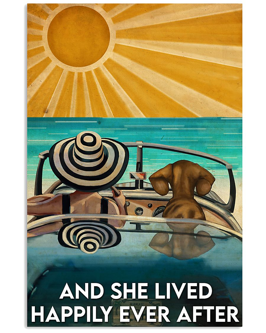 Dachshund And She Lived Happily Ever After Beach 11x17 Poster