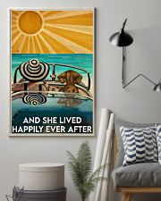 Dachshund And She Lived Happily Ever After Beach 11x17 Poster lifestyle-poster-1