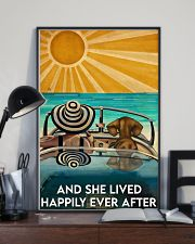 Dachshund And She Lived Happily Ever After Beach 11x17 Poster lifestyle-poster-2