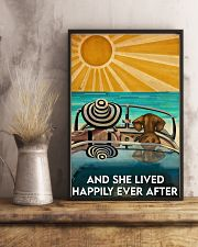 Dachshund And She Lived Happily Ever After Beach 11x17 Poster lifestyle-poster-3