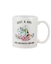Cycle - Just A Girl  Who Loves Bicycle And Wine Mug thumbnail