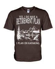 Kayaking - I Do Have A Retirement Plan V-Neck T-Shirt thumbnail