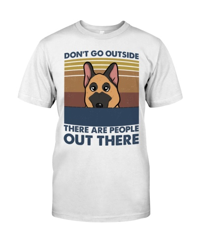 German Shepherd Do Not Go Outside