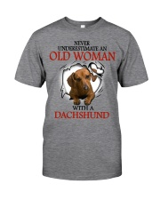 Dachshund - Old Woman Classic T-Shirt front