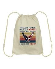 Family The Air Force Has My Poppa Drawstring Bag thumbnail