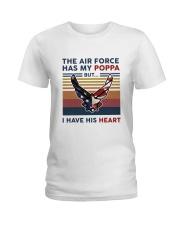 Family The Air Force Has My Poppa Ladies T-Shirt thumbnail