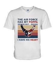 Family The Air Force Has My Poppa V-Neck T-Shirt thumbnail