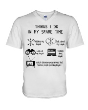 Kayaking - Things I Do In My Spare Time V-Neck T-Shirt thumbnail