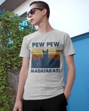 German Shepherd Pew Pew Madafakas Silhouette Classic T-Shirt apparel-classic-tshirt-lifestyle-17