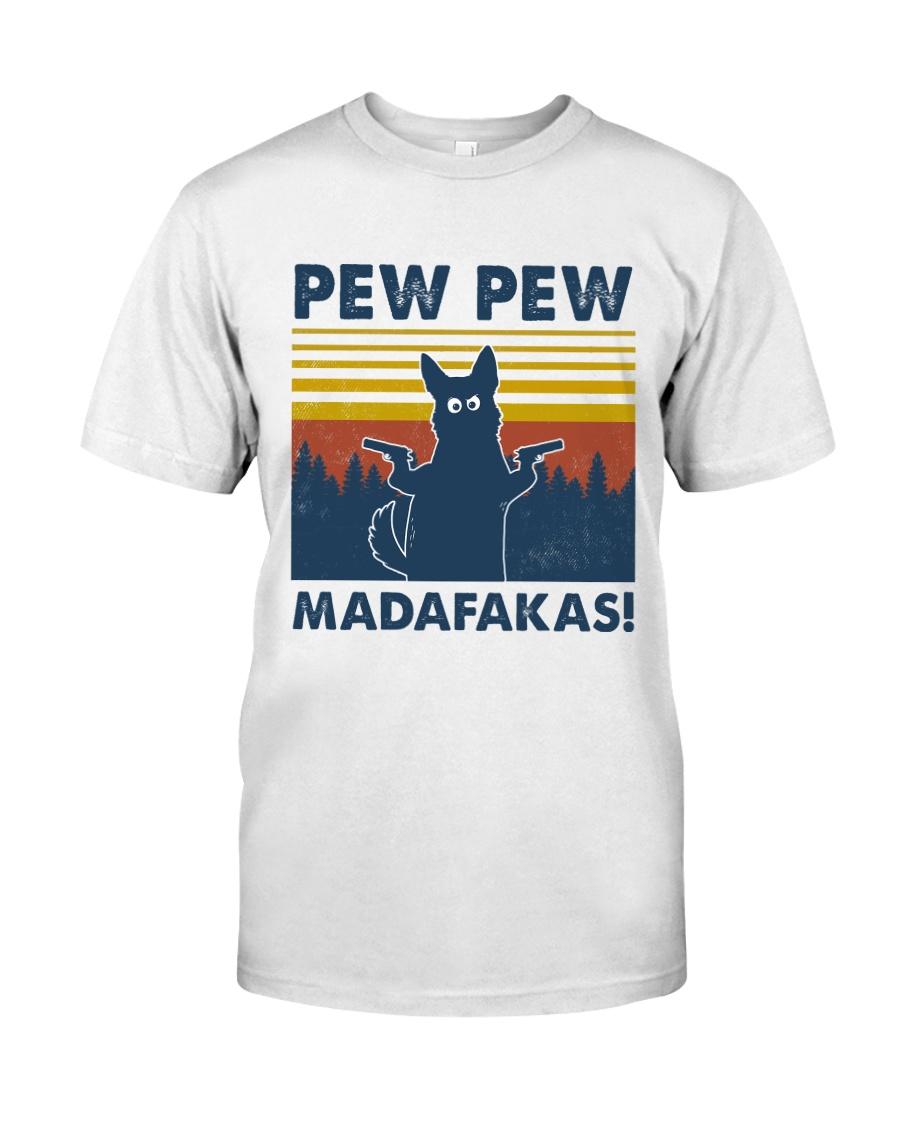 German Shepherd Pew Pew Madafakas Silhouette Classic T-Shirt