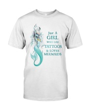Mermaid Just A Girl Classic T-Shirt front