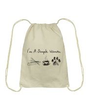 Canoeing - I'm A Simple Woman Drawstring Bag thumbnail