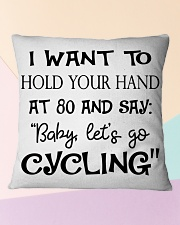 Cycle - Hold Your Hand Square Pillowcase aos-pillow-square-front-lifestyle-25