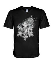 Cycle - Snowflake V-Neck T-Shirt thumbnail