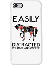 Horse - Easily Ditracted By Horse And Coffee Phone Case thumbnail