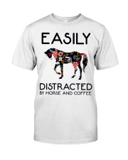 Horse - Easily Ditracted By Horse And Coffee Classic T-Shirt front