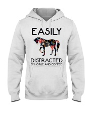 Horse - Easily Ditracted By Horse And Coffee Hooded Sweatshirt thumbnail