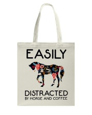 Horse - Easily Ditracted By Horse And Coffee Tote Bag thumbnail